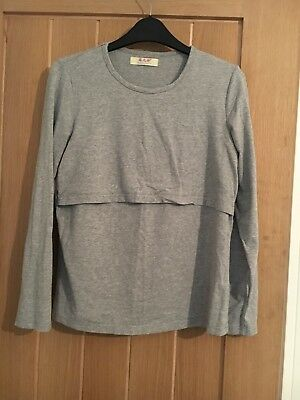 Grey long sleeved Nursing Top size 12