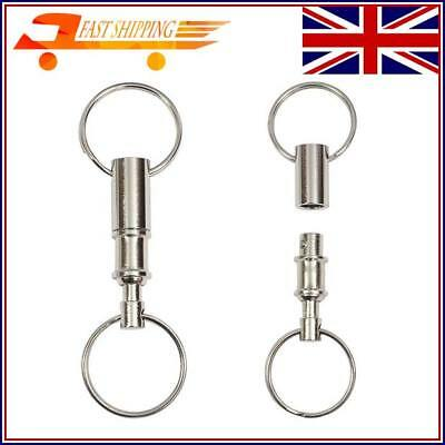 2 lots Detachable Pull Apart Quick Release Keychain Key Ring with Two Split Ring