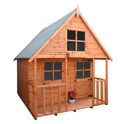MINI SWISS COTTAGE 6ft x 6ft  PLAYHOUSE INC UPPER BUNk AREA