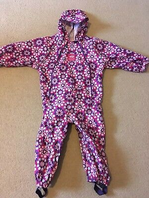 JoJo Maman Bebe Pack-Away Waterproof All in One Rain Suit 2-3 Years, Wow!