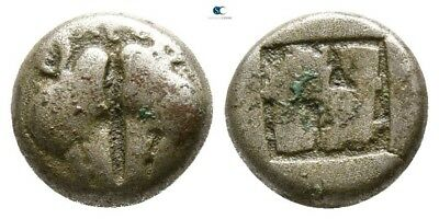 Savoca Coins Lesbos Uncertain Mint Bi Diobol Boar 1,18 g / 9 mm @PLV11718