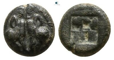 Savoca Coins Lesbos Uncertain Mint Bi Obol Boar 0,65 g / 8 mm #SAC6054