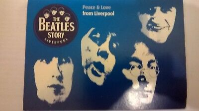Beatles Postcards from beatles Exhibition liverpool Promotional Card gc