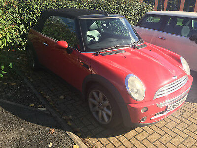 2004 Mini Cooper Convertible Red - Manual - NO RESERVE - 99p - Great First Car