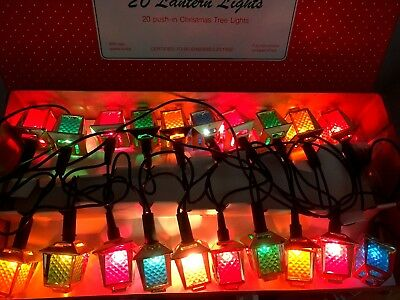 20 Vintage Carriage Lantern Christmas Fairy Lights  Boxed and Unused