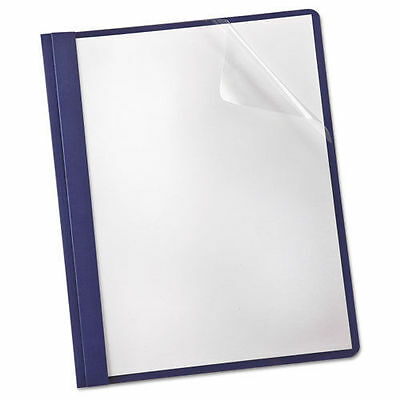 25 Clear Front Cover Report Binder 53540-23 Blue School Work Letter 3 Fasteners