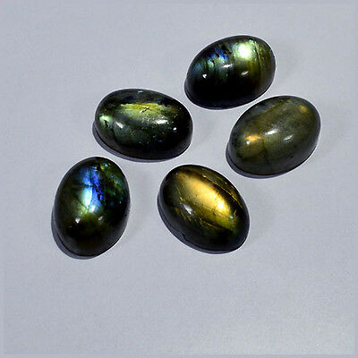 Labradorite Cabochon 18X13Mm/5Pcs Calibrated Natural Fire Oval Gemstones 0016-86