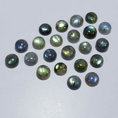 Labradorite Cabochon 8X8Mm/22Pcs Calibrated Natural Fire Round Gemstone 0020-69