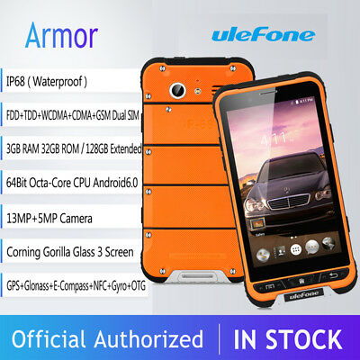 """4.7""""Ulefone 3+32GB IP68 Impermeabile Android 8*Core 13MP 4G Smartphone CELLULARE"""