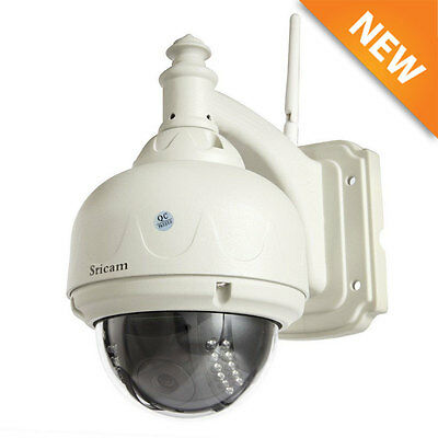 Sricam Wireless Outdoor Pan/Tilt Network CCTV Camera P2P Wifi IP Webcam IR-Cut#Y