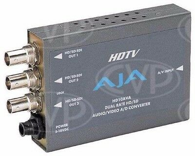AJA: HD10AVA Component to HD-SDI Converter with Audio Embed