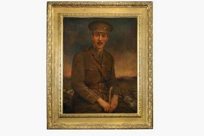 Portrait military army officer,York & Lancaster regiment, Watts frame.