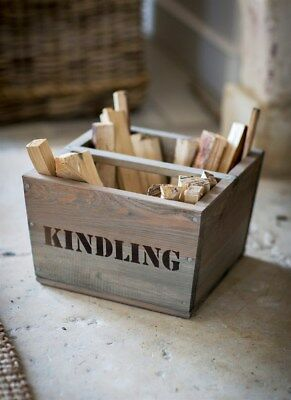 NQP GARDEN TRADING Kindling Box Storage In Spruce Ref 3