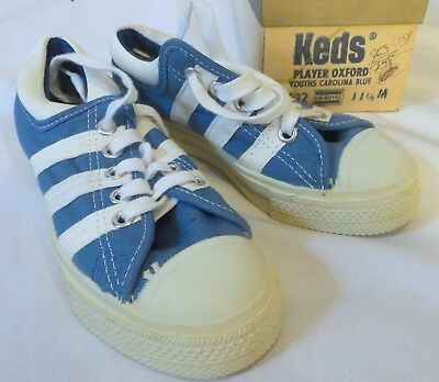Vintage Keds Sneakers Shoes Dead Stock Kids Youth Carolina Blue 11 1/2 M