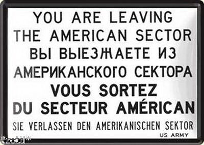 Nostalgic-Art POSTAL DE METAL 10x14 cm - You Are Leaving the American SECTOR #