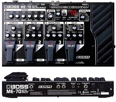 Boss Me-70 Guitar Multi Effects Pedal Processor & Power Supply 50 80