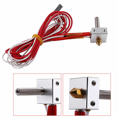 12V 1.75mm 0.4mm MK8 Nozzle Extruder Hot End HotEnd for Prusa i3 3D Printer New