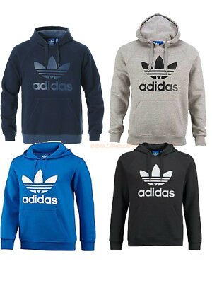 Adidas Originals Trefoil Mens Hooded Top In 4 Colours Mens Uk Sizes Hooded Sweat
