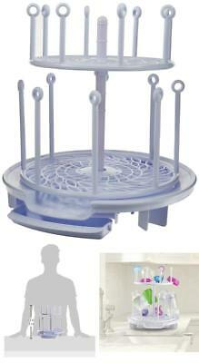 The First Years Baby Spinning Drying Rack Bottle Storage Holder Infant Toddler