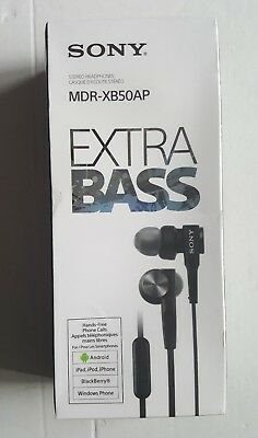 Sony MDR-XB50AP In-Ear Extra Bass Headphones with In-Line Control - Black