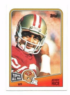 Jerry Rice 1988 Topps, Football Card !!