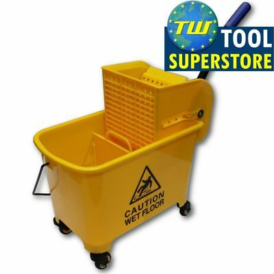 Professional Commercial Industrial Colour Yellow Kentucky Mop Bucket + Wringer