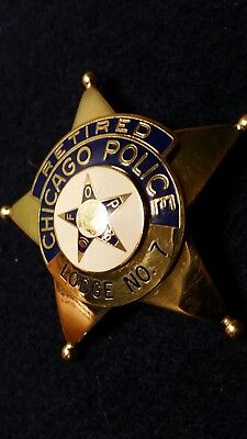 Chicago Police FOP Retirement Star Badge NAMED & DATED +extras LOOK