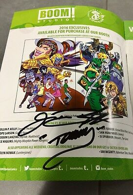 Signed Jason David Frank Tommy Mighty Morphin Power Rangers JDF Green White