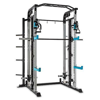 Multi Gym Total Body Fitness Power Rack Cable Training Barbell Pull Up Bar