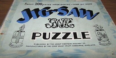 Vintage Chad Valley GWR 3 ply wooden jigsaw puzzle