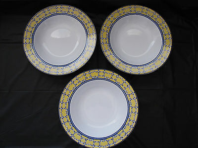 3 PTS International COVENTRY Dinnerware Porcelain Rimmed Bowls PALACE GARDEN & 3 PTS International COVENTRY Dinnerware Porcelain Rimmed Bowls ...