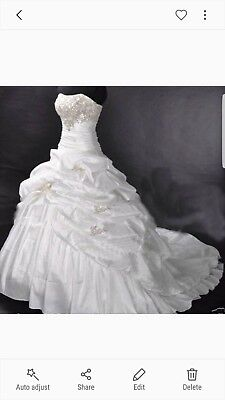 Wedding dress size 16, complete with 3 hoop under skirt