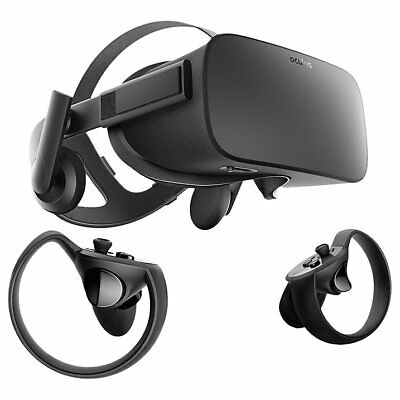 Oculus Rift Virtual Reality Headset and Touch Controllers (Sealed in Box)