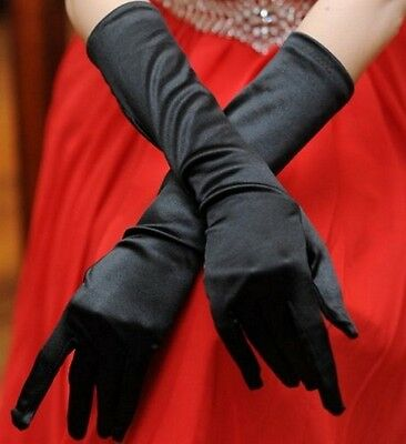 Gloves burlesque long venetian 35 cm satin TU for evening marriage or ceremony
