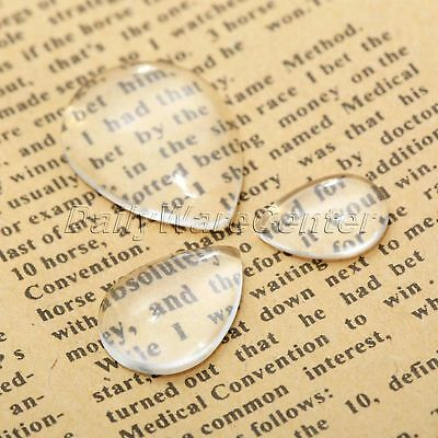 20Pcs Nice-Looking Clear Glass Cabochon Dome Drop-type Flat Back Pendants Craft
