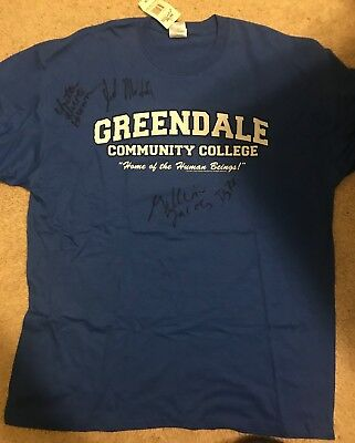 SDCC 2012 Community Hand Signed Greendale XL T-Shirt!