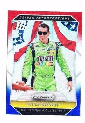 Kyle Busch 2016 Panini Prizm, Driver Introductions, Red, White & Blue Prizm !!