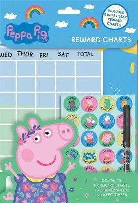 Children's Potty Training Reward Chart, free stickers & pen. MAGNETIC
