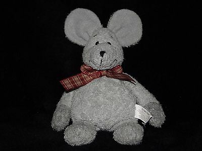 Russ Mouse Soft Toy Grey Pot Belly Pals Comforter Doudou