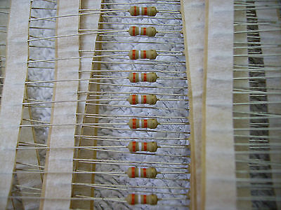 10 x Metal Film Resistors - 0.25W - One ohm to 82K - Some unusual values