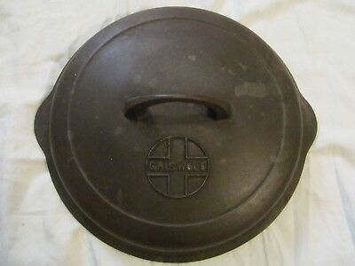 Antique Griswold No 9 Self Basting Skillet Cover  Erie PA., USA  1049A