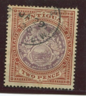 "ANTIGUA - SG. 33 : 1903 / 1907  ""  2d. DULL PURPLE & BROWN  "" ."
