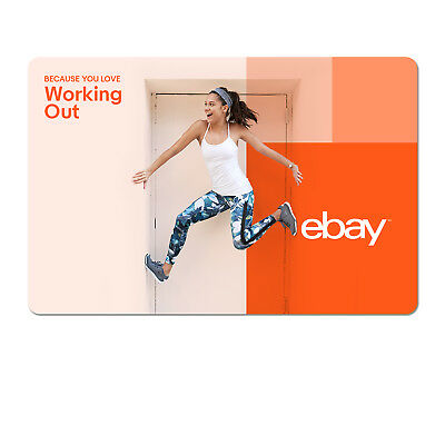 Because You Love Working Out - eBay Digital Gift Card  $15 to $200