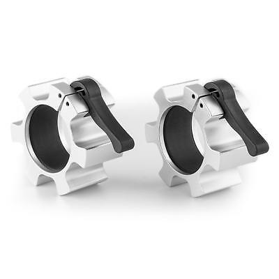 Dumbells Collar Pair Barbell Clips Pair Tight Clamps Easy Weights Change Silver