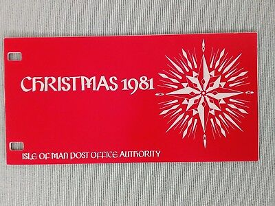 c........ ISLE OF MAN..presentation pack ..CHRISTMAS 1981... stamps...MNH