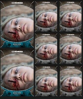 DENISE CLOYD-TRAGEDIES-WAVE 2-2x BLUE +6x GRAY-TOPPS WALKING DEAD TRADER DIGITAL