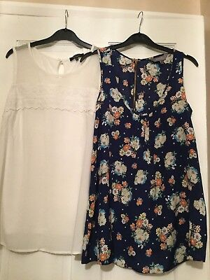 Two New Look Maternity Tops. Size 12