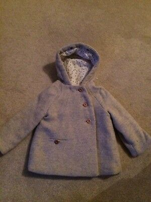 Baby Girls Zara Grey coat Size 3-4 Years