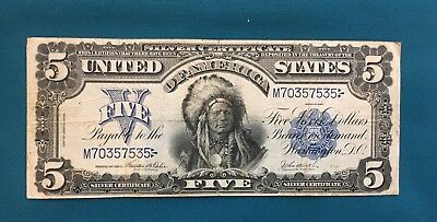 1899 $5 Silver Certificate Chief; Fr 278