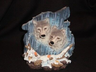 Wolf Figurine Double Sided